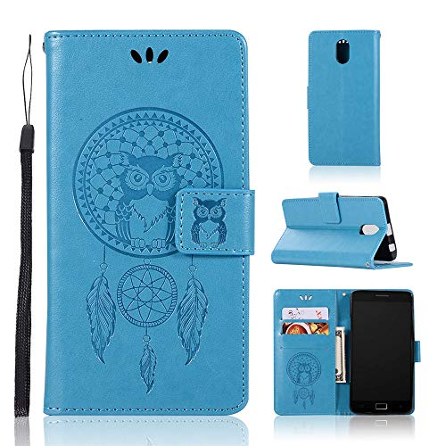 JARNING Kompatibel mit Lenovo Vibe P1m P1ma40 Leder Schutzhülle PU Leder Wallet Flip Hülle Tasche Lederhülle mit Kartenfach für Lenovo Vibe P1m P1ma40 (blau)