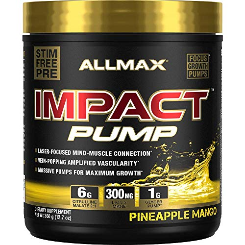 ALLMAX Nutrition Impact Pump, Pineapple Mango, 12.7 oz (360 g)