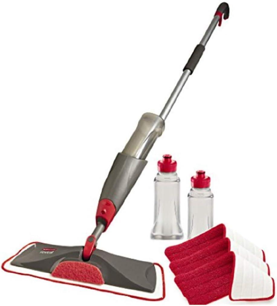 Rubbermaid Reveal Spray Microfiber Super intense Denver Mall SALE Floor Kit for Cleaning La Mop
