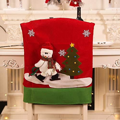 SGZBY Ornamenti Natalizi Set Di Sedie Di Natale Copri Sedia Di Babbo Natale Vestito Da Festa Di Natale Da Tavola
