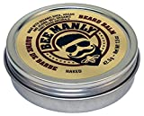Honey House Naturals Bee Manly Beard Balm – Unscented – 1.5 ounce Round Travel Size Tin – All Natural Ultra Moisturizing Beard Balm Infused with Essential Oils and Butters - Made in the USA
