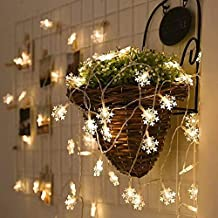 XYAN Decking Patio Lighting String Lights 3m 20 LEDs USB Home New Year Christmas Decoration Snowflake Garland Light (Light...