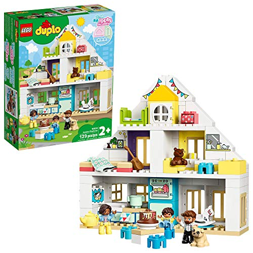 LEGO DUPLO Town Modular Playhouse 10929 Dollhouse with Furniture and a Family, Great Educational Toy for Toddlers, New 2020 (130 Pieces)