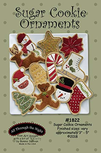 Sugar Cookie Christmas Ornaments Patterns by Bonnie Sullivan from All Through the Night #1822