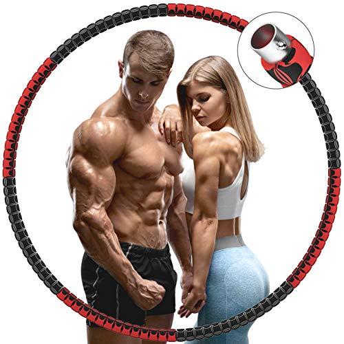 DUTISON Hula Hoop Reifen Erwachsene, 8 Knotens Abnehmbare Einstellbare Gewicht Hula Hoop Reifen zur Gewichtsabnahme, Verbesserter Edelstahlkern mit 5mm Schaumstoff Hoola Hoop für Training und Anfänger