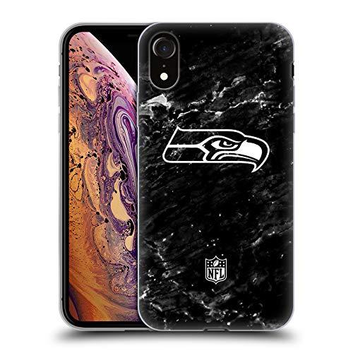 Head Case Designs Offizielle NFL Marmor 2017/18 Seattle Seahawks Soft Gel Huelle kompatibel mit Apple iPhone XR