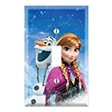 Single Toggle Wall Switch Cover Plate Decor Wallplate - Frozen Anna Olaf