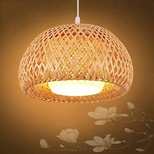 Wylolik Gran Nueva lámpara Colgante China de la Vendimia Lámpara de bambú Tropical Lámpara de Mimbre de Bricolaje Sombras de Tela Tejido Lámpara Colgante Bar Restaurante Villa Droplight Decoración de