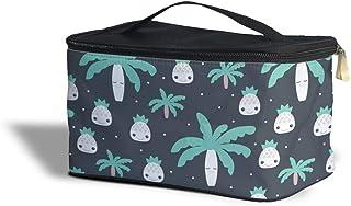 Cute Kawaii Palm Trees Cosmetics Storage Case - Makeup Zipped Travel Bag