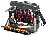KNIPEX 00 21 02 SL 24-teilig Lehrlings-Werkzeugtasche für die Elektroinstallation, mehrfarbig