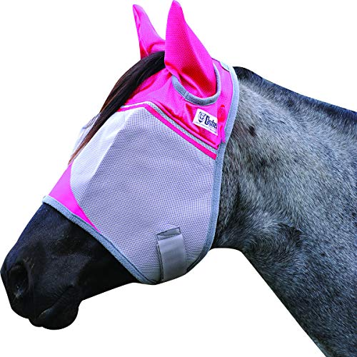 Cashel Crusader Fly Mask with Pink Ears, Benefits Breast Cancer - Size: Arab/Cob/Small Quarter Horse