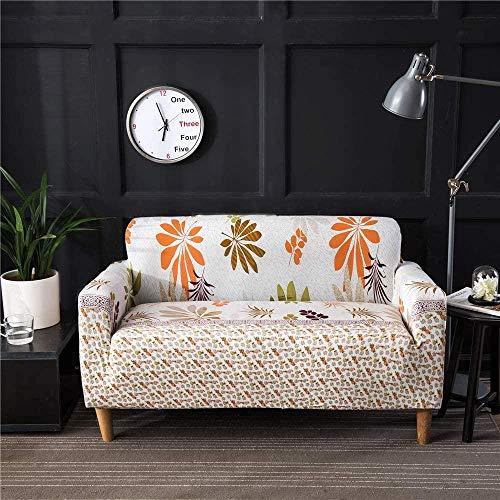 HFTYCC Funda de sofá, Protector de sofá Grueso y elástico Antideslizante para Sala de Estar 1 2 3 4 Funda de sofá de 4 plazas -4 plazas_Light Maple Leaf