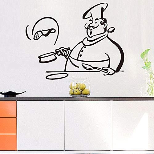 Tianpengyuanshuai Afneembare keukenstickers voor koken, muurstickers voor woonkamer, raamdecoratie, kast voor meubels, houtsnijwerk