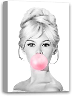 Funny Ugly Christmas Sweater Brigitte Bardot Chewing Pink Bubble Gum Canvas Poster Bardot Canvas Vintage Movie Star Bardot Art Retro Decor Bardot Gifts for Her 8
