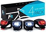 Luces Bicicleta LED - Luz Bici Frontal y Trasera - Bike Lights LED Set de 4 Luce