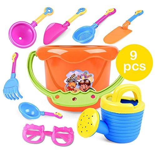 VANKER 9 Pcs Set de jouets de plage en réutilisable pour enfant – -couleur au hasard