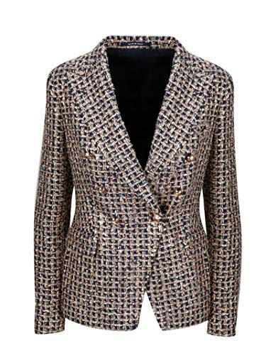 Luxury Fashion | Tagliatore Dames JALICYA10B16034B1420 Bruin Katoen Blazers | Herfst-winter 19