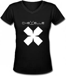 ChevelleRock Band T Shirt for Womens Contton Black
