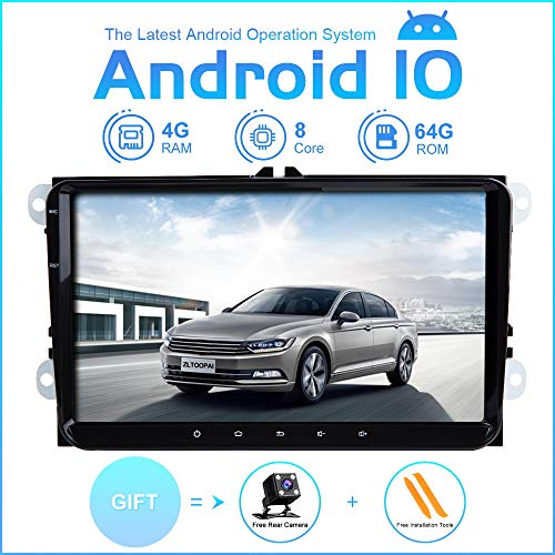 ZLTOOPAI Auto Multimedia Player für VW Volkswagen Golf Polo Caddy Amarok Passat Seat Skoda Tiguan Android 10 Octa Core 4G RAM 64G ROM 9 Zoll IPS Double DIN Autoradio Audio Stereo GPS Navigation