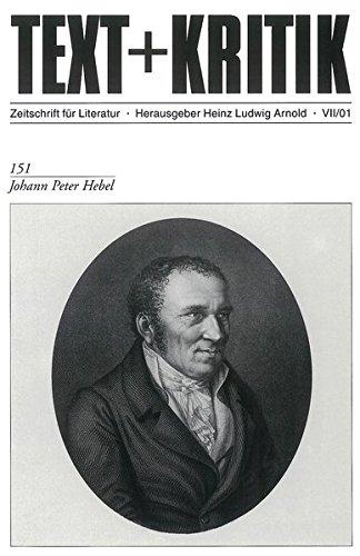 Johann Peter Hebel (TEXT+KRITIK 151)