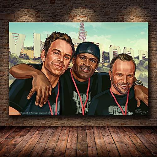 Yiwuyishi Clásico Grand Theft Auto V Game Art Póster de Pared GTA 5 Impresión de Pintura en Lienzo Sala de Estar Dormitorio Decoración para el hogar Mural 50x70cm P-1171