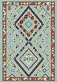 whmckl Alfombra de Dormitorio de Estilo geométrico étnico Verde Sala de Estar Cocina mesita de Noche Alfombra alfombra140*200
