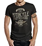 Biker T-Shirt Racer Design: Motorcycle Brotherhood XL