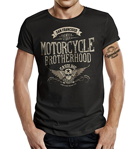 Biker T-Shirt Racer Design: Motorcycle Brotherhood M