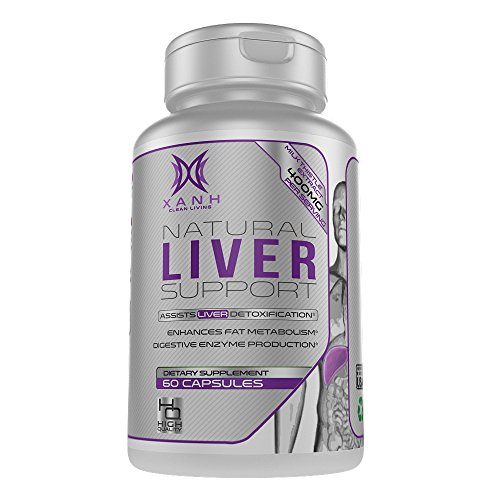 Xanh Liver Support Supplement - 22 Herbs Liver Cleanse Detox Pills | Herbal Vitamins with Milk Thistle Extract, Silymarin, Beet, Artichoke and Dandelion for Fatty Liver Health | 60 Veggie Capsules