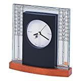 Bulova B7750 Glasner House Frankl Lloyd Wright Clock, Light Cherry Stain