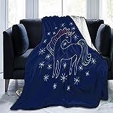 Mantas de microfibra de unicornio mágico, duraderas para decoración del hogar, perfectas para cama y sofá mantas para todas las estaciones de 150 x 100 cm