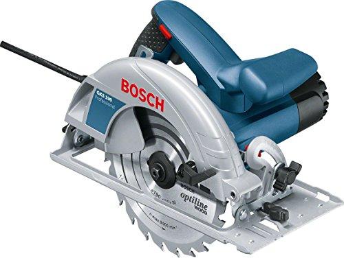 Bosch Professional Scie circulaire Filaire GKS 190 (1400 W, Ø de la lame de scie : 190 mm, Capacité de coupe maxi dans le bois (90°)...
