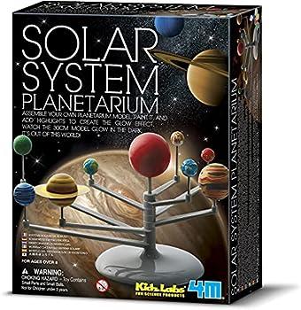 4M 3427 Solar System Planetarium - DIY Glow In The Dark Astronomy Planet Model Stem Toys Gift for Kids & Teens Girls & Boys Multicolor 1 EA