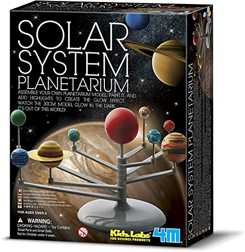 4M 3427 Solar System Planetarium - DIY Glow In The Dark Astronomy Planet Model Stem Toys Gift for Kids & Teens, Girls & Boys Multicolor, 1 EA