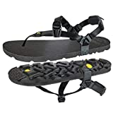 Luna Sandals Mono Winged Edition  Minimalist Running and Hiking Sandals - Lightweight 5.9 oz Comfortable Sandals for Men and Women  Adjustable Fit, Black, 8 Women/6 Men