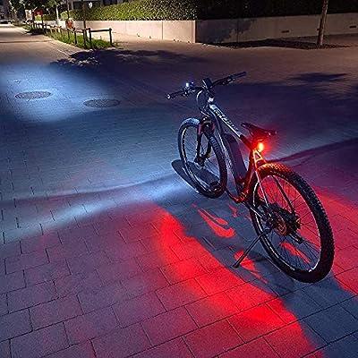FISCHER USB Beleuchtungs-Set mit innovativer 360° Bodenleuchte für mehr Sichtbarkeit und Schutz   Frontlicht 50 Lux