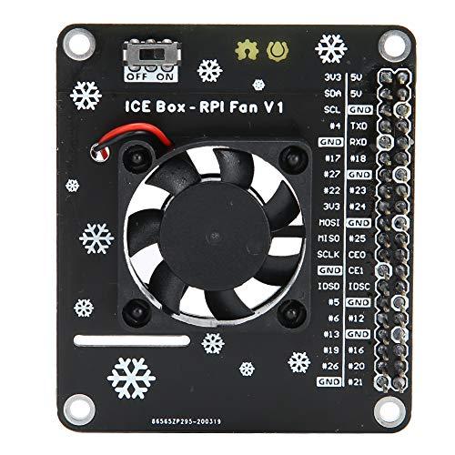 Ventilador activo de refrigeración con luz LED para Raspberry Pi 3B para Raspberry Pi 4B