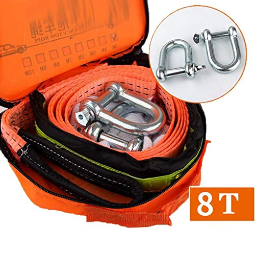 Learn More About DWLXSH Tow Strap - Heavy Duty Draw String Bag Included - Reinforced Loop End to Ens...