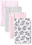 Hudson Baby Unisex Baby Cotton Flannel Burp Cloths, Toile, One Size
