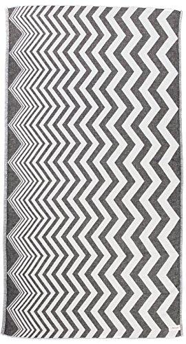 Bersuse - Asciugamano turco Coronado, 100% cotone, colore: Nero