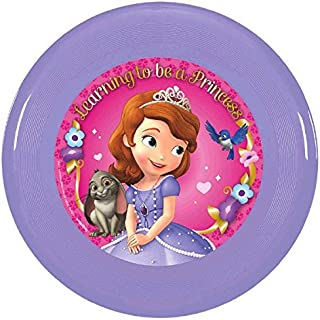 """Disney Sofia The First Flying Disc Princess Birthday Party Toy Favour and Prize Giveaway (1 Piece), Purple/Pink, 9""""."""