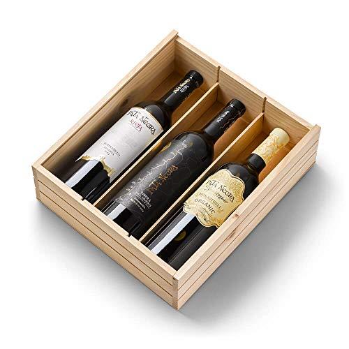 Pata Negra - Estuche de 3 Botellas de Vino - Rioja Reserva, Ribera del Duero Reserva y Jumilla Apasionado Ecológico - Estuche de 3 Botellas x 750 ml