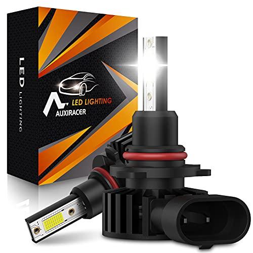 AUXIRACER Ampoule HB3 9005 LED, 60W 12000LM 6500K Blanc Phares pour Voiture et Moto IP65 Étanche Extrêmement Lumineuses, Ampoules Auto de Rechange Pour Lampes Halogènes et Kit Xénon (2 Pièces)