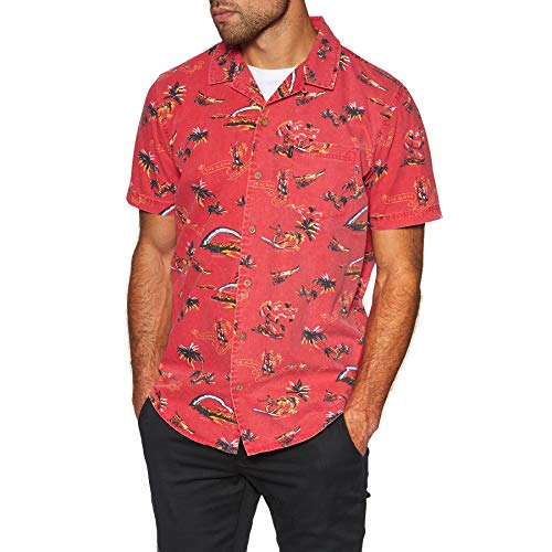 Rip Curl Velzy Short Sleeve Shirt Large Bright Red