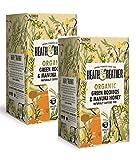 Heath & Heather Organic Manzanilla Saborada Manuka Miel Naturalmente Libre de Cafeína - 2 x 20 bolsitas de té (60 gramos)