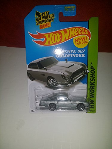 2014 Hot Wheels Hw Workshop 200/250 - James Bond 007 Goldfinger Aston Martin 1963 DB5 - [Ships in a Box!] by Mattel