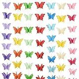 BETESSIN 7 STK 3D Schmetterling Girlande Papier Deko Party Geburtstag Hochzeit Bunt Geburtstagsgirlande Partygirlanden Deckenhänger Banner hängende Dekorative Garland (bunt)