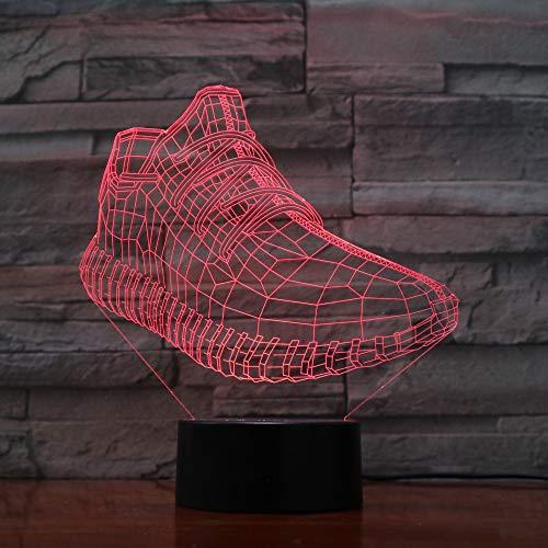 ERBEIOU zapatos deportivos Luz de Noche para Niños, Lámpara de Luz 3D, 16 Colores Cambian con Control Remoto, Ideas de Festivo y Regalos para Niños Niñas y Adultos