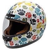 NZI 050323G707 Activy Junior Pawprints Casco De Moto, Multicolor, Talla 54 (XS)