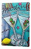 WallAdorn Tin Olive Martini Glass Dekoracion Eisen Poster